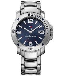tommy hilfiger men s silver tone bracelet watch 43mm 1790924 tommy hilfiger men s silver tone bracelet watch 43mm 1790924