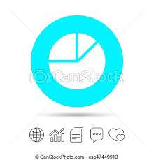 Pie Chart Graph Sign Icon Diagram Button