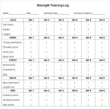Excel Workout Template Football Workout Schedule Strength Program