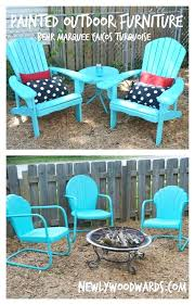 painted metal patio furniture. Outdoor Patio Furniture Paint Colors Refreshing Chairs With Marquee Turquoise . Spray Painted Metal