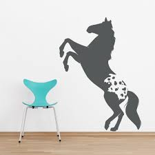 on horse wall art decal with appaloosa horse wall art decal