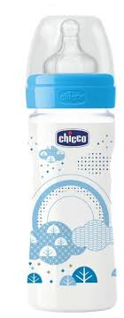 <b>Chicco Бутылочка</b> с соской из силикона <b>Well</b>-<b>Being</b>, средний ...
