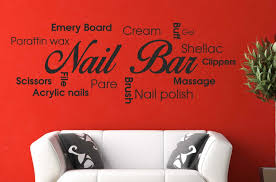 Beauty Shop Quotes Best of Nail Bar Collage Vinyl Wall Decal Picture Quote Sticker Hair Beauty