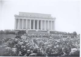 lincoln memorial. crowd attending the dedication of lincoln memorial o