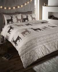deer comforter sets bed in a bag elegant stag deer winter duvet quilt cover bedding set