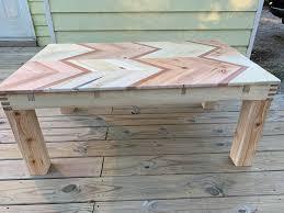 chevron pallet wood coffee table