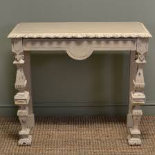 antique console table. Unusual Painted Arts \u0026 Crafts Pitch Pine Antique Console Table N