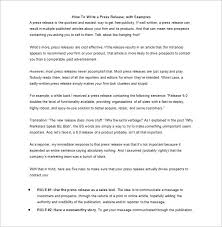 28 Press Release Template Word Excel Pdf Free