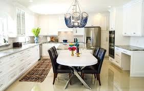 large kitchen with beaded chandelier over table houzz chandeliers