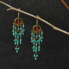 here are the finished chandelier earrings