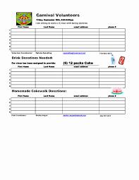 Party Sign Up Sheet Template Meal Sign Up Sheet Template Fresh Potluck Assignment Sheet