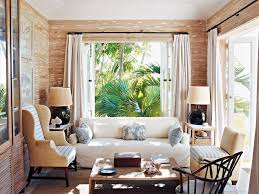 Decorations:Terrific Small Sunroom Interior Design In Tropical Style Using  Wingback Chair Also White Sofa