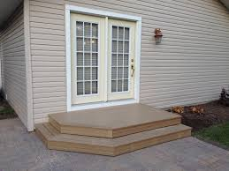 Outdoor Steps New Patio Pavers With 2 Step Deck 32 Loves Salad Pinterest