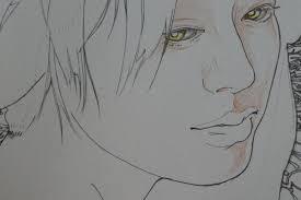 プリズマカラー色鉛筆でツヤツヤお肌の塗り方紹介です美人画ぬりえより
