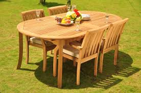 Teak Dining Set 4 Seater 5 Pc 117 Double Extensions Oval Dining