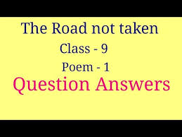 the road not taken question answers
