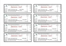 Fundraiser Ticket Template Free Download Free Event Ticket Template Download Complete Guide Example 13