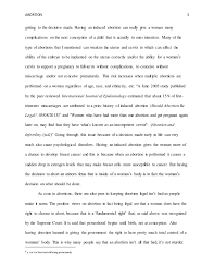 abortion ethical essay abortion