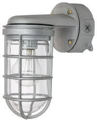 wall mount vaporproof fixture metallic clear lens outdoor wall lights