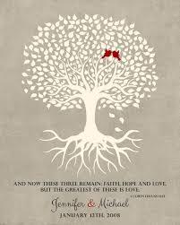 tenth anniversary wedding tree corinthians 13 anniversary gift