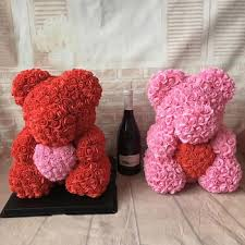 Valentines Day Ideas For Girlfriend High Quality Preserved Flower Rose Teddy Bear Of Roses Pe For Valentines Day Gifts Mothers Day Gift Girlfriend Gift Buy Teddy Bear Of