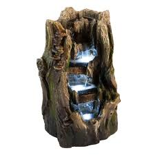 Cascading Stone River Water Feature With Light  L143cm £29999Solar Water Features With Lights