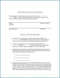 This subcontractor agreement template is normally between a contractor and subcontractor to outline the sample perimeters of specialist work to be done. Simple Independent Contractor Agreement Template Addictionary