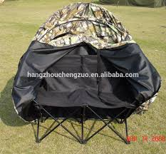 high end 2 man blind chair tent 250d pu coated polyester fabric hunting blind