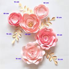 Cardstock Paper Flower Handmade Cardstock Rose Diy Paper Flowers Leaves Set For Wedding