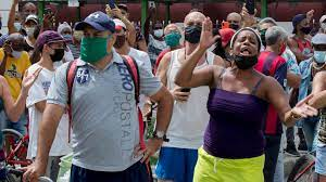 Protesters in Cuba are calling for the ...