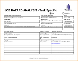 Job Safety Analysis Form Template Job Hazard Analysis Form Template Business 1
