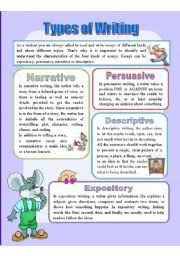 tips for writing an effective types of writing 4 types of writing