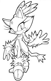 Sonic Coloring Pages Blaze The Cat Coloringstar