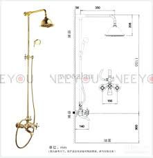 shower and tub faucet bathroom dual handles exposed pure copper wall mount shower tub faucet set shower and tub faucet
