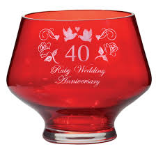 ruby heeled bowl ruby wedding anniversary gift boxed