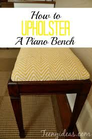 today i am going to show you how to upholster a piano bench