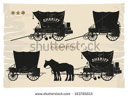black and white covered wagon. covered wagons cowboy sheriff, vector black and white wagon