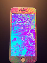 My old iPhone 6 psychedelic decal : iphone