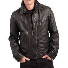 black leather jacket zoom shirt