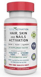hair skin and nails growth formula 5000 mcg biotin silica optimsm