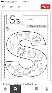 Letter S Preschool Worksheet Beginning Sounds Color It Free ...