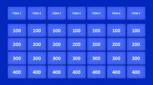 Jeopardy Template With Music Free Powerpoint Game Ppt Blank