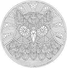 Kleurplaten Mandala Uilen
