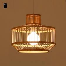 Japanese style lighting Bedroom Black Natural Bamboo Wicker Rattan Shade Cage Lantern Pendant Light Fixture Asian Rustic Japanese Style Lamp Dining Table Room Wantitall Black Natural Bamboo Wicker Rattan Shade Cage Lantern Pendant Light