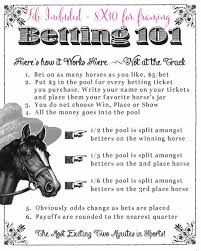 Kentucky Derby Party Printable Betting Sheets By