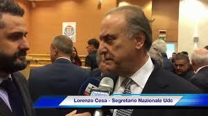 Convention Giovani Udc a Vibo Valentia: Intervista a Lorenzo Cesa - Lorenzo  Cesa