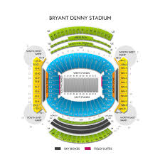 Alabama Seating Chart Bryant Denny Bryant Denny Stadium 2019 Seating Chart