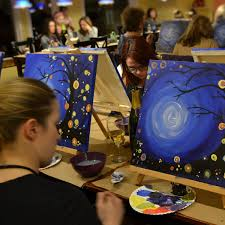 cork and canvas painting party