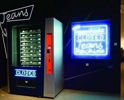 Buying Vending Machines Magnificent Jean Vending Machine Lets You Buy Pants Onthego Geek