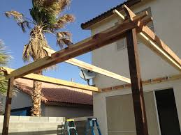 Simple Pergola ana white pergola attached directly to the house diy projects 4288 by xevi.us
